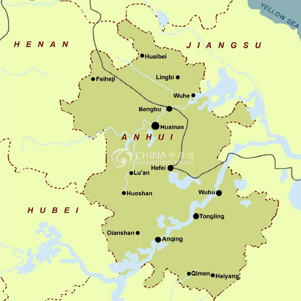 Anhui Maps China Anhui Maps Anhui Travel Service