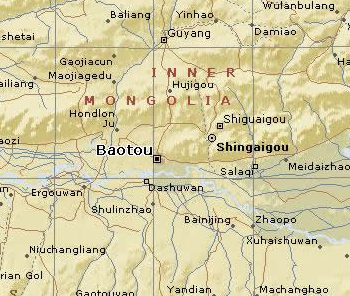 Baotou City Map