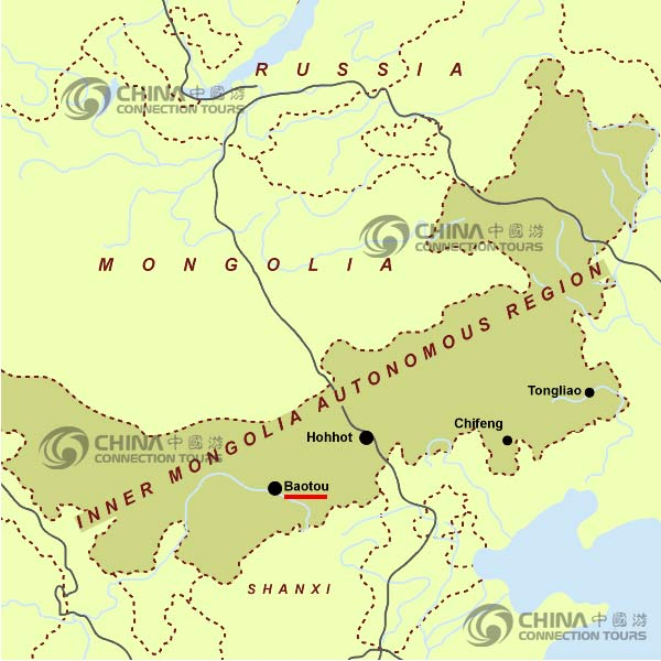Baotou China  City pictures : Map of Baotou China Baotou Location Map Click to