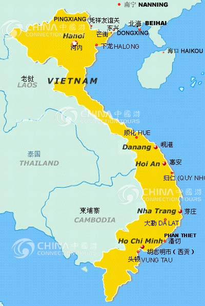 Location Map of Beihai, Beihai Travel Guide