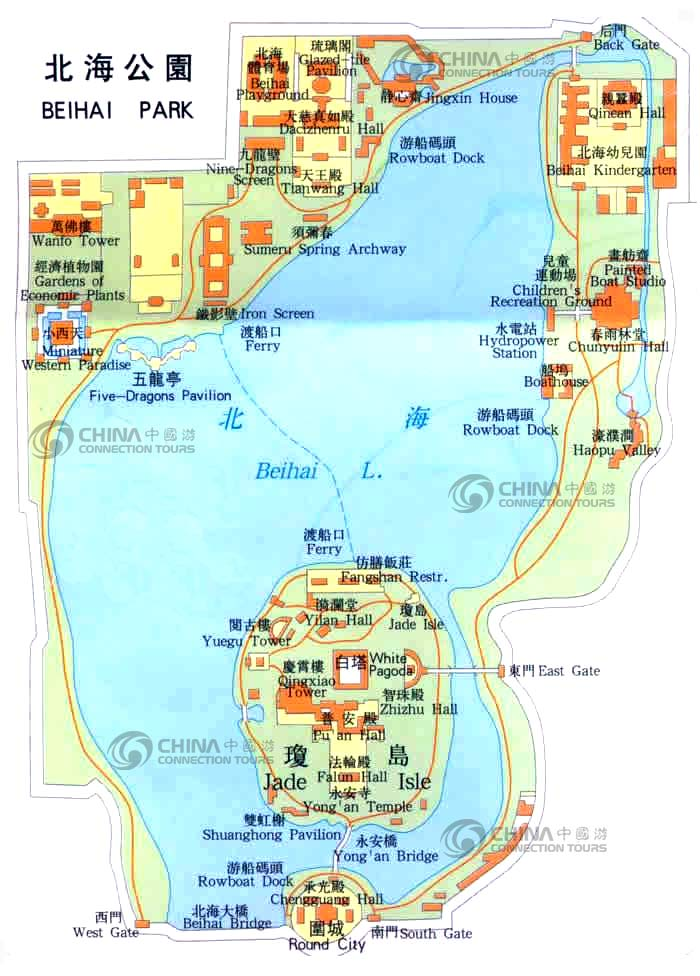 Beihai Park Map Beijing Beihai Park Map Beijing Travel Guide