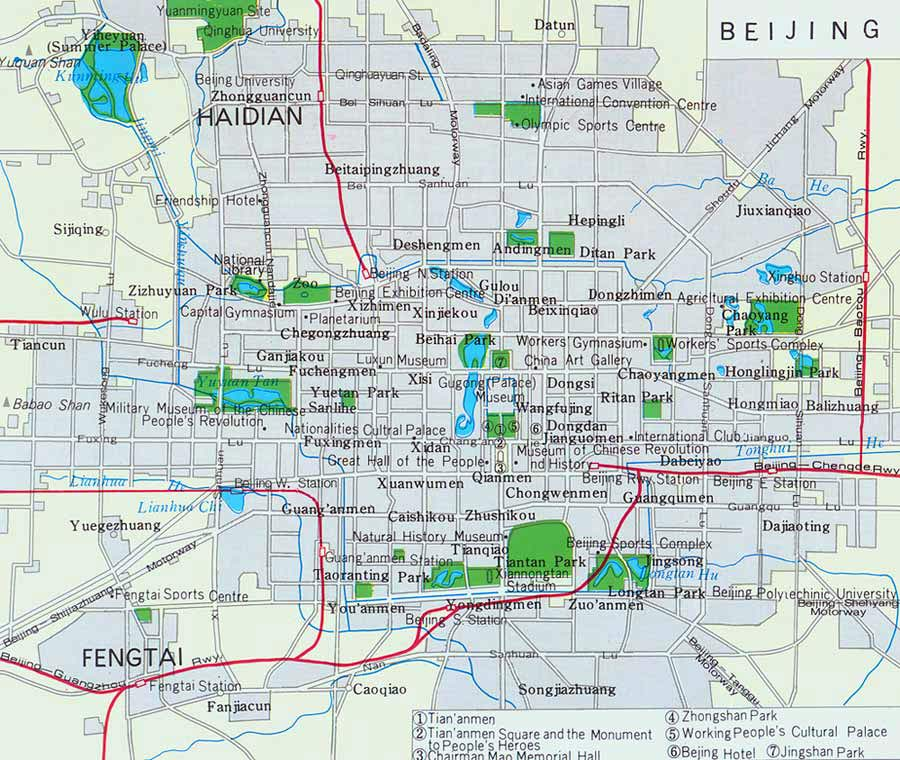 Beijing City Map Beijing Map Beijing Travel Guide – Beijing Tourist Attractions Map