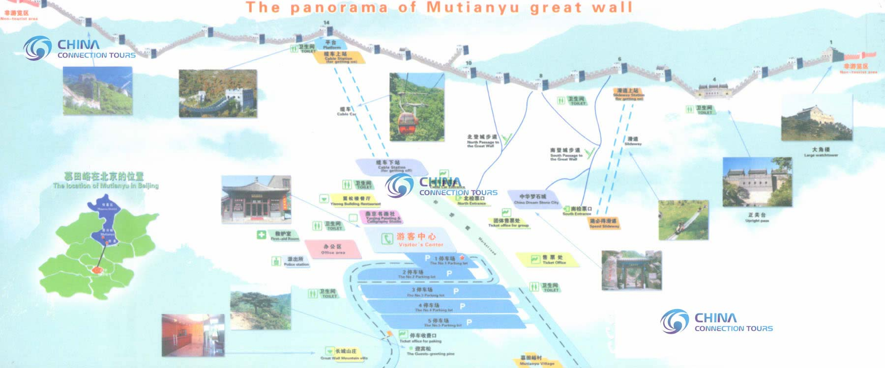 Mutianyu Great Wall Map Beijing Mutianyu Great Wall Map Beijing – Beijing Travel Map