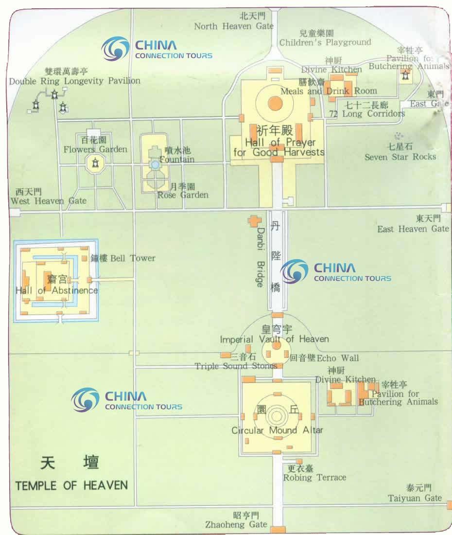 Temple of heaven map beijing temple of heaven map beijing travel