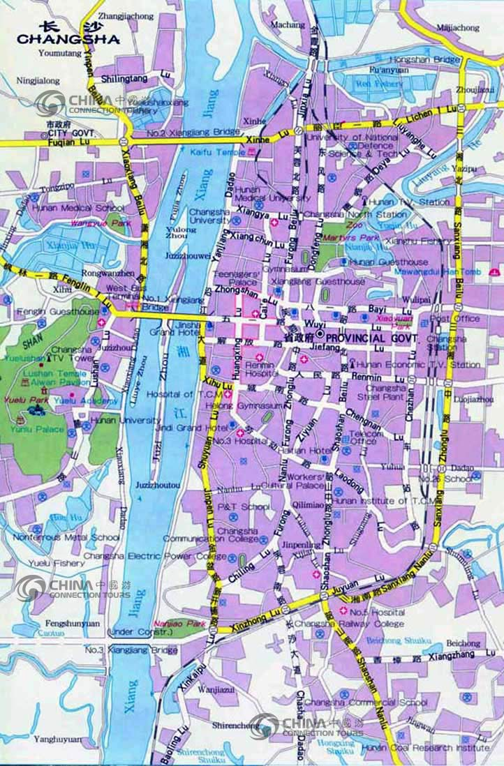 Changsha City Map, Changsha Maps, Changsha Travel Guide