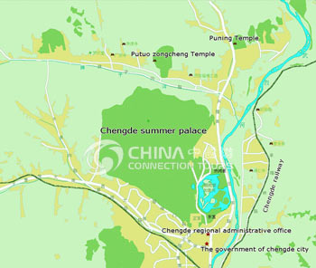 Map of Chengde Summer Resort