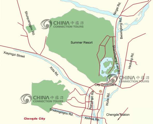 Chengde City Map China Chengde Map Chengde Travel Guide - Chengde map