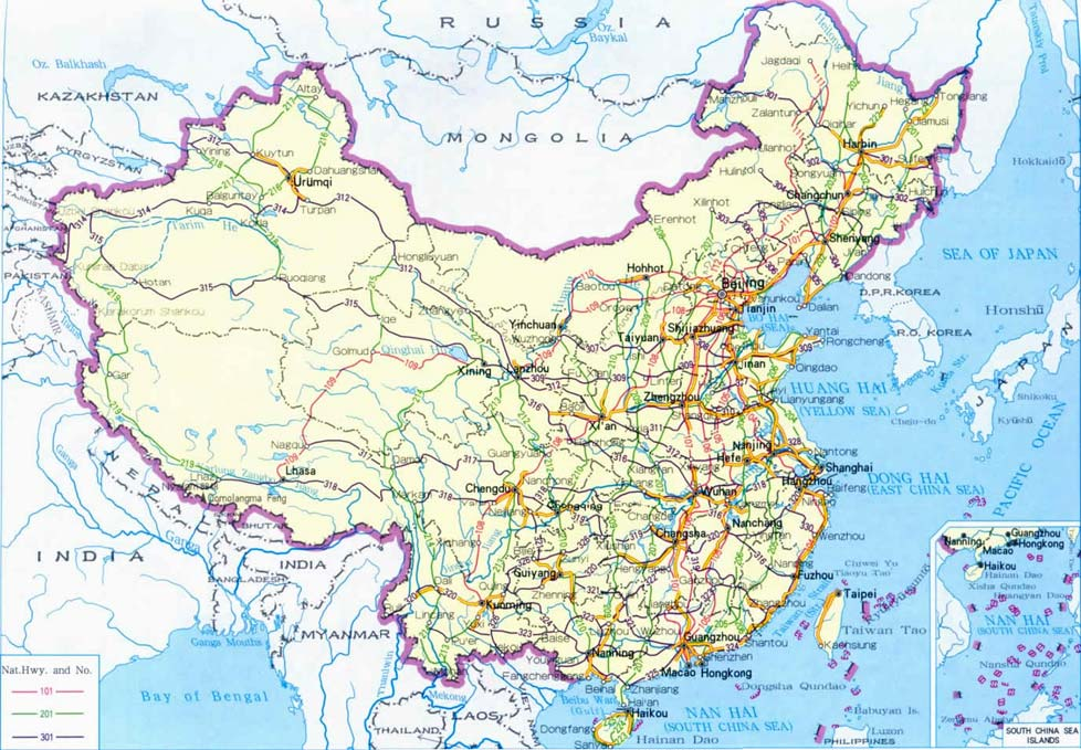 Map of China Highways, China Highways Map, China Tour Map Resources
