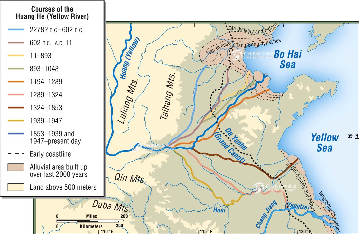 Yellow River Lower Reaches Map