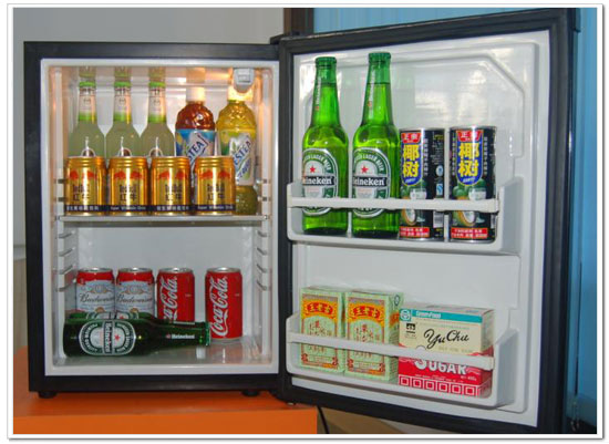 Hotel mini-bar – food and drinks