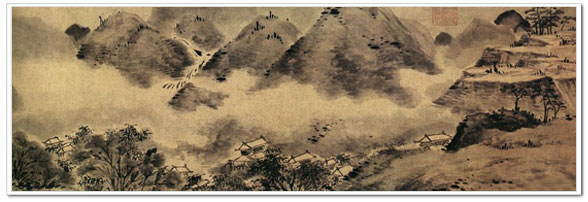 Landscape painting, traditional Chinese painting