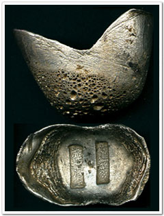 Silver Ingots, ancient Chinese coins