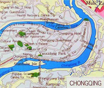 Chongqing City Map