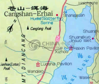 Map of Erhai