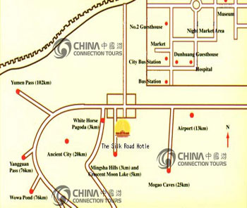 Dunhuang City Map