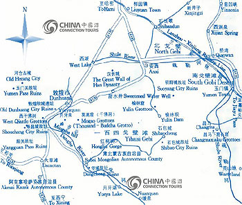 Dunhuang Tourist Map