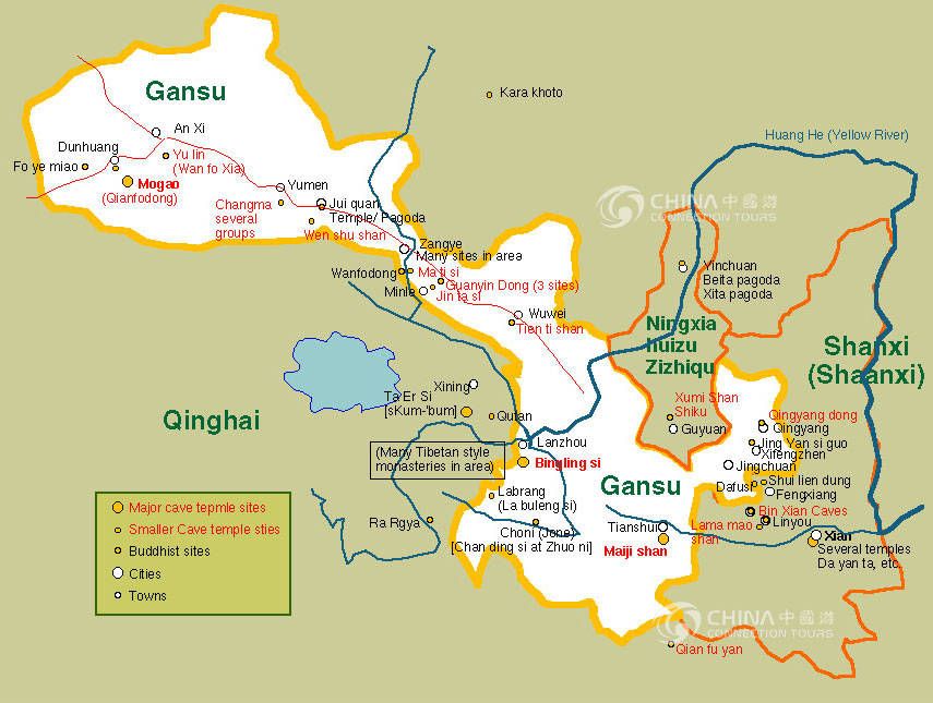Gansu China Map.Gansu Maps China Gansu Maps Gansu Travel Guide