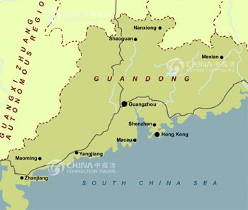 Guangdong Location Map