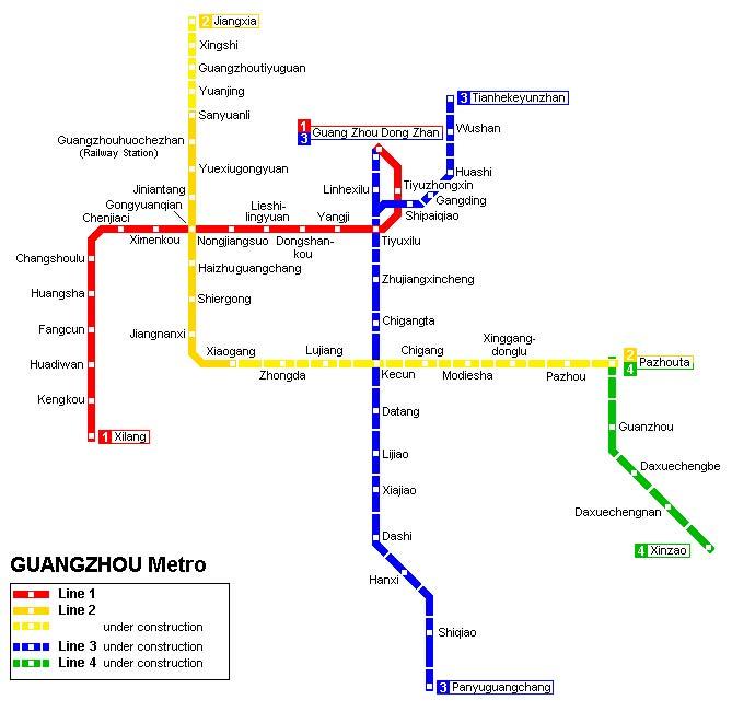 China metro map.