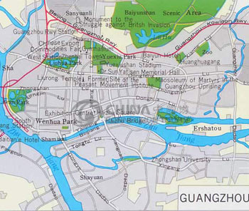 Guangzhou City Map