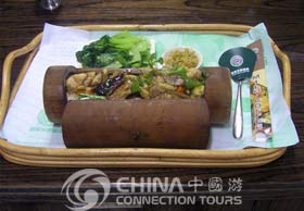Guilin Bamboo-leaves-stuffed-with-sweet-rice, Guilin Restaurants, Guilin Travel Guide