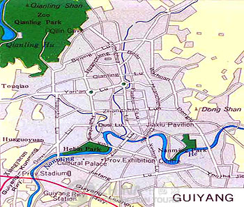 Guiyang City Map