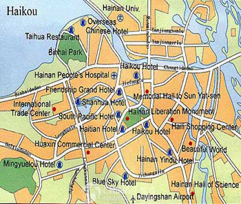 Haikou City Map