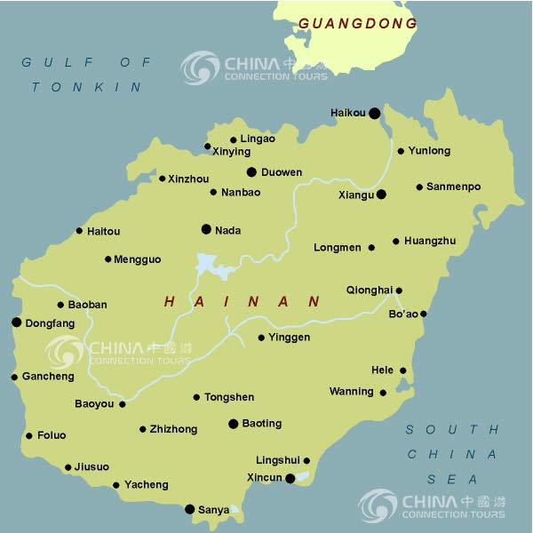 Hainan Provincial Map, Hainan Maps, Hainan Travel Guide