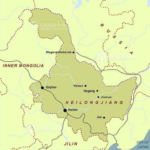 Heilongjiang Location Map China Heilongjiang Location Map - Tours map