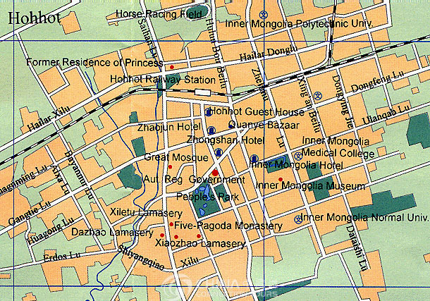 Hohhot China  city photos : Hohhot Tourist Map, China Hohhot Tourist Map Hohhot Travel Guide