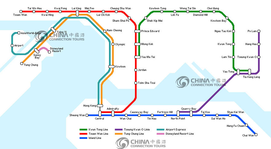 Hong Kong Subway Map, ...