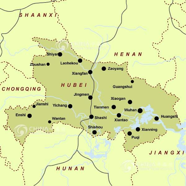 Hubei Provincial Map China Hubei Provincial Map Hubei Travel Guide - Enshi map