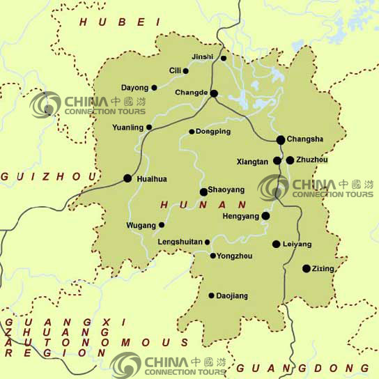 Hunan Province Map China Hunan Province Map Hunan Travel Guide