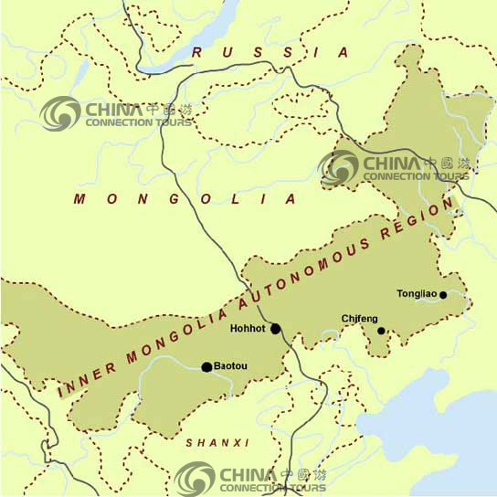 Inner Mongolia Location Map, Inner Mongolia Maps, Inner Mongolia Travel Guide