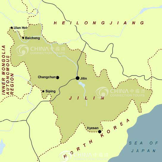 Jilin Location Map, Jilin Maps, Jilin Travel Guide