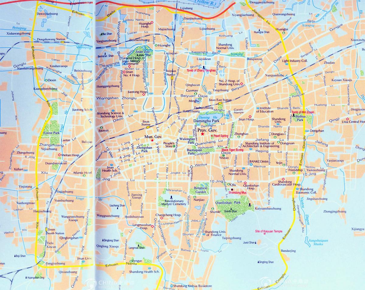 jinan tourist map jinan maps jinan travel guide. jinan tourist map china jinan tourist map  jinan travel guide