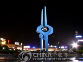 Sculpture of Spring City Square, Jinan Attraction, Jinan Travel Guide