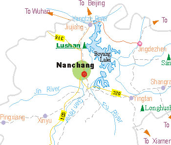 Jiujiang Tourist Map