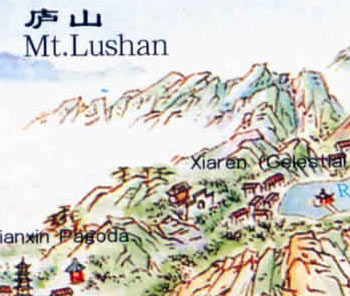 Lushan Mountain Map