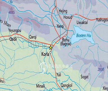 Korla Location Map