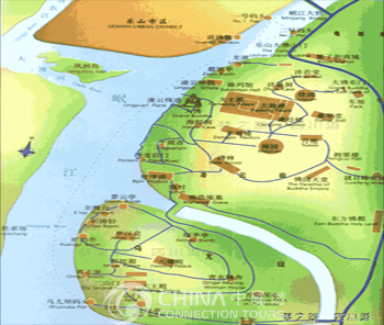 Leshan Tourist Map