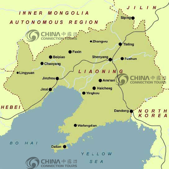 Liaoning Location Map, China Liaoning Location Map - Liaoning Travel on