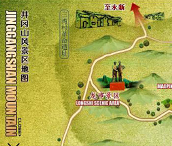 Jinggang Mountain Map