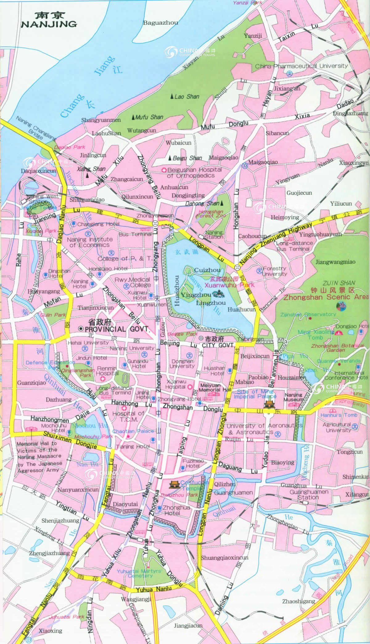 Nanjing City Map China Nanjing City Map Nanjing Travel Guide - Nanjing map