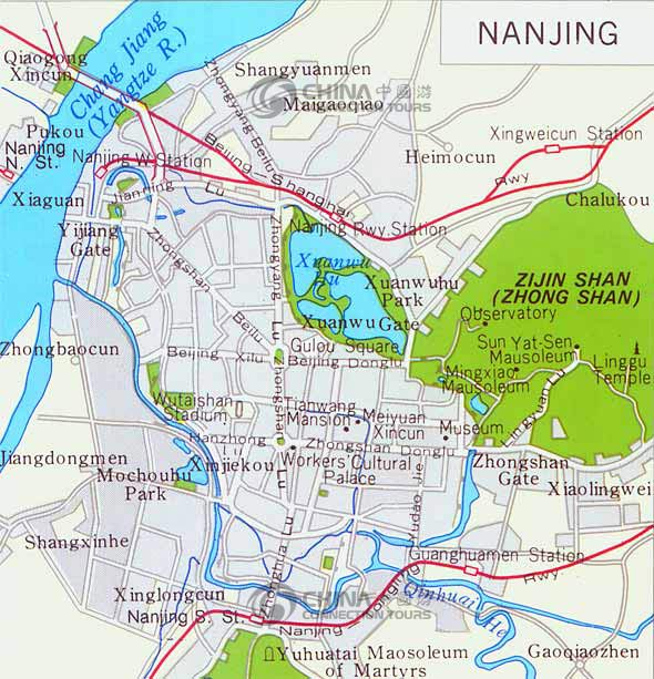 Nanjing Tourist Map China Nanjing Tourist Map Nanjing Travel Guide - Nanjing map