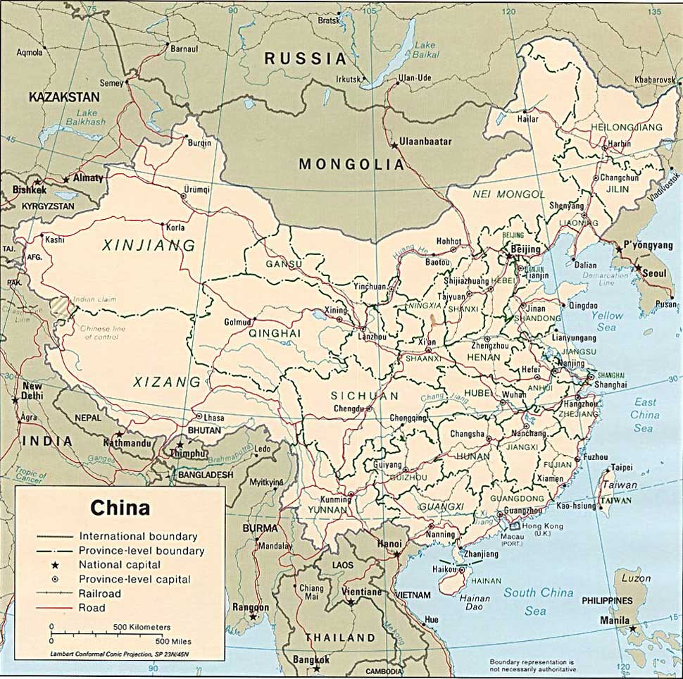Rivers Map Of China.Main Rivers And Mountains In China China Tour Background Information