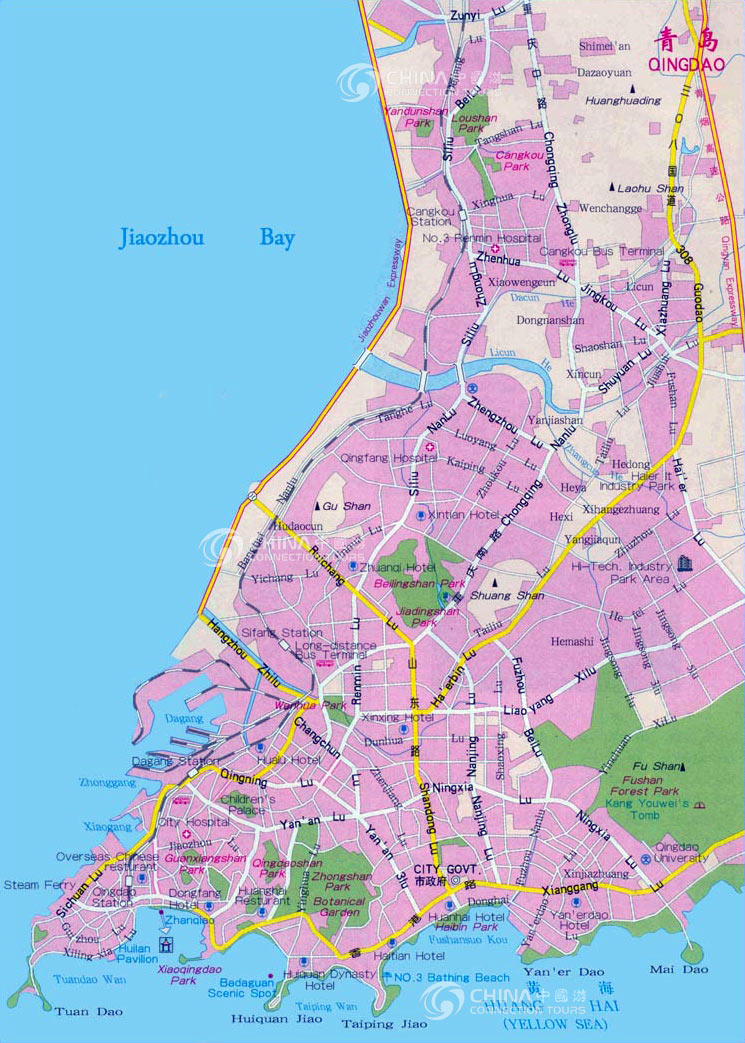 Qingdao City Map, Qingdao Maps, Qingdao Travel Guide