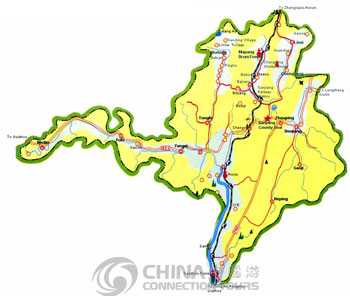 Sanjiang City Map