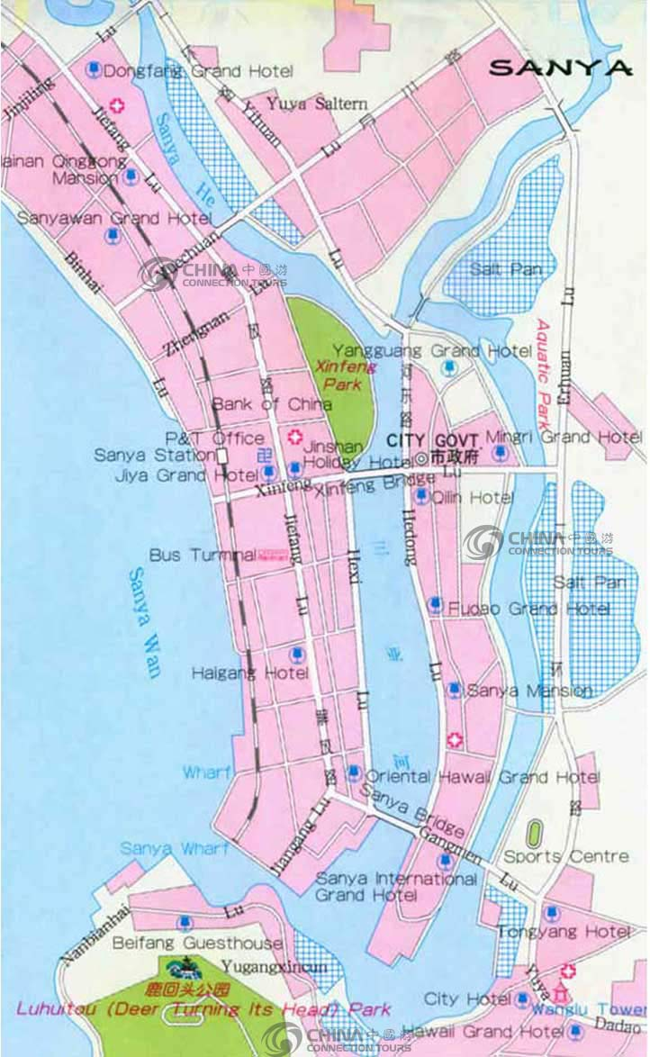 Sanya City Map, Sanya Maps, Sanya Travel Guide