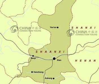 Shaanxi Provincial Map